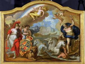 Allegory of the Power of Great Britain by Sea, Design for a Decorative Panel by Sir James Thornhill