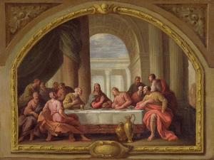 Sketch for 'The Last Supper', St. Mary's, Weymouth, Formerly Attributed to Antonio Verrio… by Sir James Thornhill