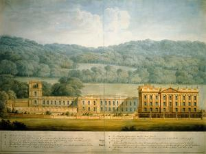 The West Front of Chatsworth House by Sir Jeffry Wyatville