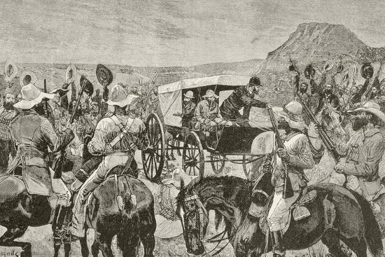 Sir Johannes Brand Announces Peace--Giclee Print