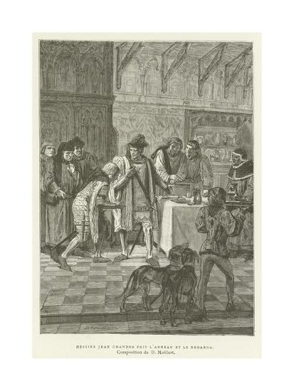 Sir John Chandos Took the Ring and Looked at It--Giclee Print