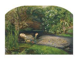 Ophelia, 1851-52 by Sir John Everett Millais