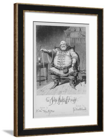 Sir John Falstaff Knight-George Cruikshank-Framed Giclee Print
