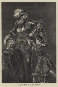 A Knight Arming by Sir John Gilbert