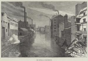 The Irwell at Manchester by Sir John Gilbert