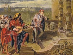 The Musician Sings in the Two Gentlemen of Verona: Act IV Scene II, C1875 by Sir John Gilbert