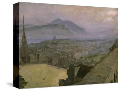 A View of Edinburgh from the Castle Looking Across the Esplanade Towards Arthur's Seat