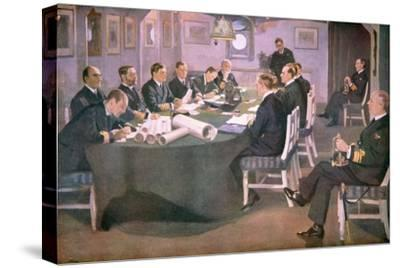 Admiral Sir David Beatty Reads the Terms of the Armistice to the German Delegate