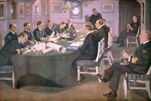 Admiral Sir David Beatty Reads the Terms of the Armistice to the German Delegate by Sir John Lavery