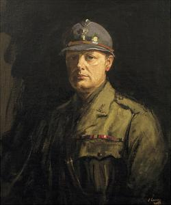 Churchill in His Uniform as Colonel of the 6th Battalion, the Royal Scots Fusiliers by Sir John Lavery