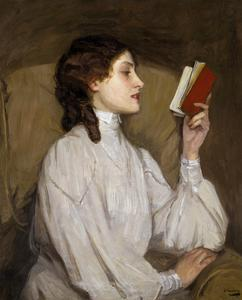 Miss Auras: the Red Book by Sir John Lavery