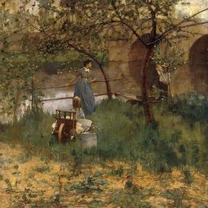 On the Loing, 1884 by Sir John Lavery