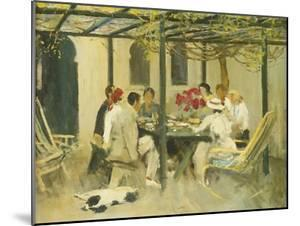 Tea at Palm Springs, 1938 by Sir John Lavery
