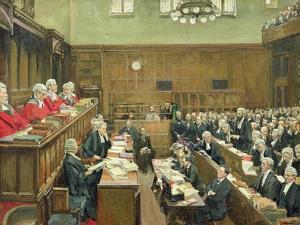 The Court of Criminal Appeal, London, 1916 by Sir John Lavery