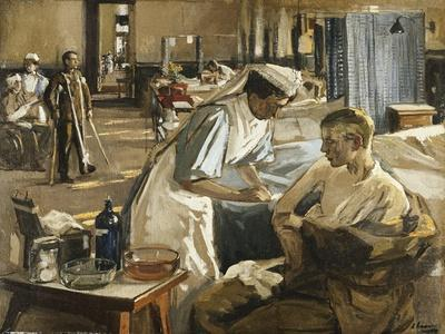 The First Wounded, London Hospital, 1914