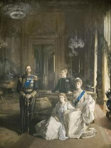 The Royal Family at Buckingham Palace, 1913 by Sir John Lavery