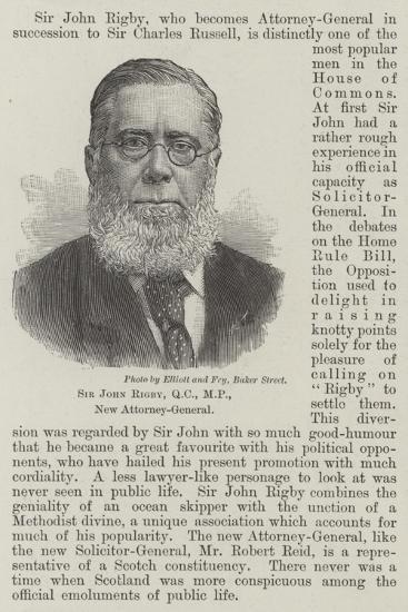 Sir John Rigby, New Attorney-General--Giclee Print