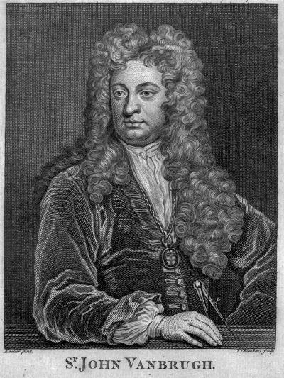 Sir John Vanbrugh, Engraved by Thomas Chambars-Godfrey Kneller-Giclee Print