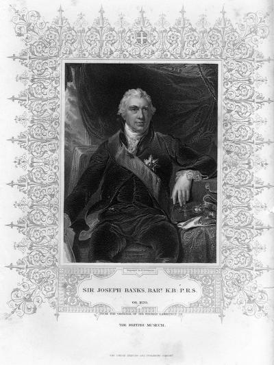 Sir Joseph Banks (1743-182), English Naturalist, Botanist and Science Patron, 19th Century-H Robinson-Giclee Print