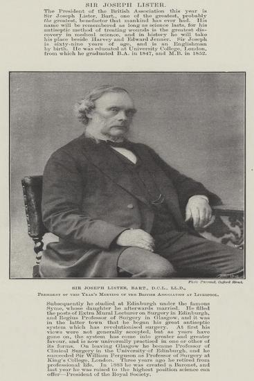 Sir Joseph Lister--Giclee Print