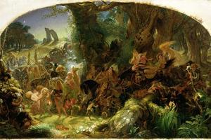 The Fairy Raid: Carrying Off a Changeling - Midsummer Eve, 1867 by Sir Joseph Noel Paton