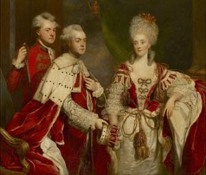 George, 2nd Earl Harcourt, His Wife Elizabeth, and Brother William, 1780 by Sir Joshua Reynolds