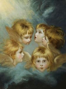 Heads of Angels - Portrait of Miss Francis Isabel Ker Gorden by Sir Joshua Reynolds