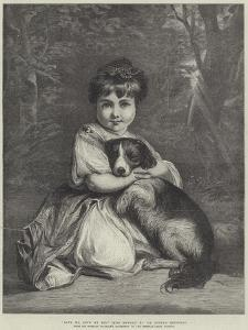 Love Me, Love My Dog, Miss Bowles by Sir Joshua Reynolds