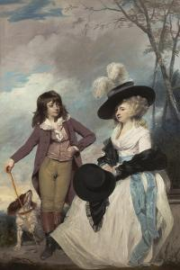 Maria Marow Gideon and Her Brother, William, 1786-87 by Sir Joshua Reynolds