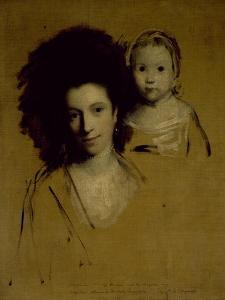 Studies of Georgiana, Duchess of Devonshire and Her Daughter Lady Georgiana Cavendish by Sir Joshua Reynolds