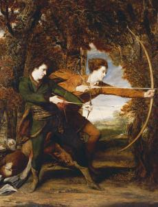 The Archers: a Double Portrait of Colonel John Dyke Acland and Thomas Townsend, 1769 by Sir Joshua Reynolds