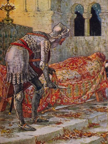 'Sir Lancelot in the Chapel Perilous', 1911-Walter Crane-Giclee Print