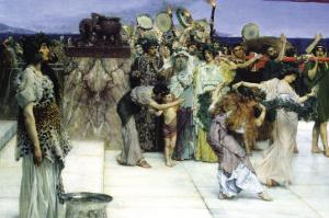 A Consecration of Bacchus, Detail by Sir Lawrence Alma-Tadema