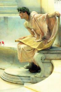 A Reading of Homer, Detail by Sir Lawrence Alma-Tadema