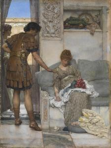 A Silent Greeting by Sir Lawrence Alma-Tadema