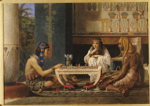 Egyptian Chess Players, 1868 by Sir Lawrence Alma-Tadema