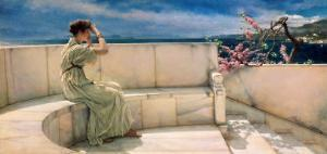 Expectations, 1885 by Sir Lawrence Alma-Tadema
