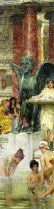In the Roman Baths, or Roman Women in the Bath, 1876 by Sir Lawrence Alma-Tadema