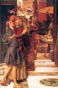 Parting Kiss by Sir Lawrence Alma-Tadema
