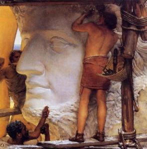 Roman Sculptors, 1877 by Sir Lawrence Alma-Tadema