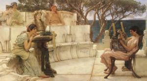 Sappho and Alcaeus, 1880 by Sir Lawrence Alma-Tadema