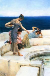 Silver Favorites by Sir Lawrence Alma-Tadema