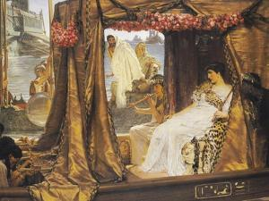 The Meeting of Anthony and Cleopatra, 41 BC by Sir Lawrence Alma-Tadema