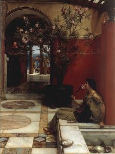 The Oleander by Sir Lawrence Alma-Tadema