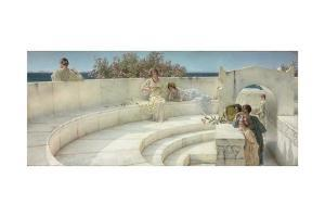Under the Roof of Blue Ionian Weather, 1901 by Sir Lawrence Alma-Tadema