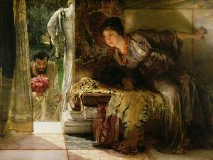 Welcome Footsteps, 1883 by Sir Lawrence Alma-Tadema