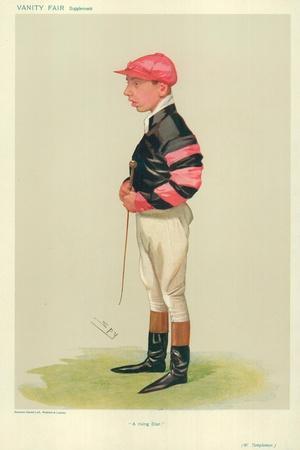 Arthur Templeman, a Rising Star, 7 November 1906, Vanity Fair Cartoon