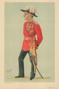 General Sir Frederick Charles Arthur Stephenson, Dear Old Ben, 18 June 1887, Vanity Fair Cartoon by Sir Leslie Ward