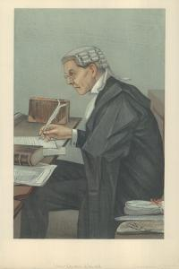 Mr John Lawson Walton, 6 March 1902, Vanity Fair Cartoon by Sir Leslie Ward