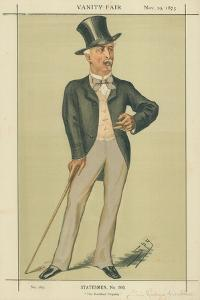 Sir Richard Wallace, the Hertford Property, 29 November 1873, Vanity Fair Cartoon by Sir Leslie Ward